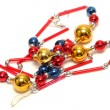 Bead decoration for christmas tree — Photo
