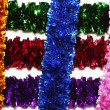 Grid-shaped tinsel — Foto Stock