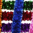 Grid-shaped tinsel — Stock Photo