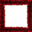 Red tinsel frame — Foto de Stock