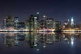 New york bei nacht — Stockfoto