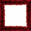 Red tinsel frame — Stock Photo