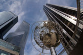Globe at Columbus Circle — Stock Photo