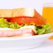 Stock Photo: Sandwich And Juice