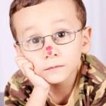 Child with lenses — Stock Photo
