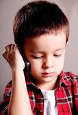Dziecko mówi — Zdjęcie stockowe