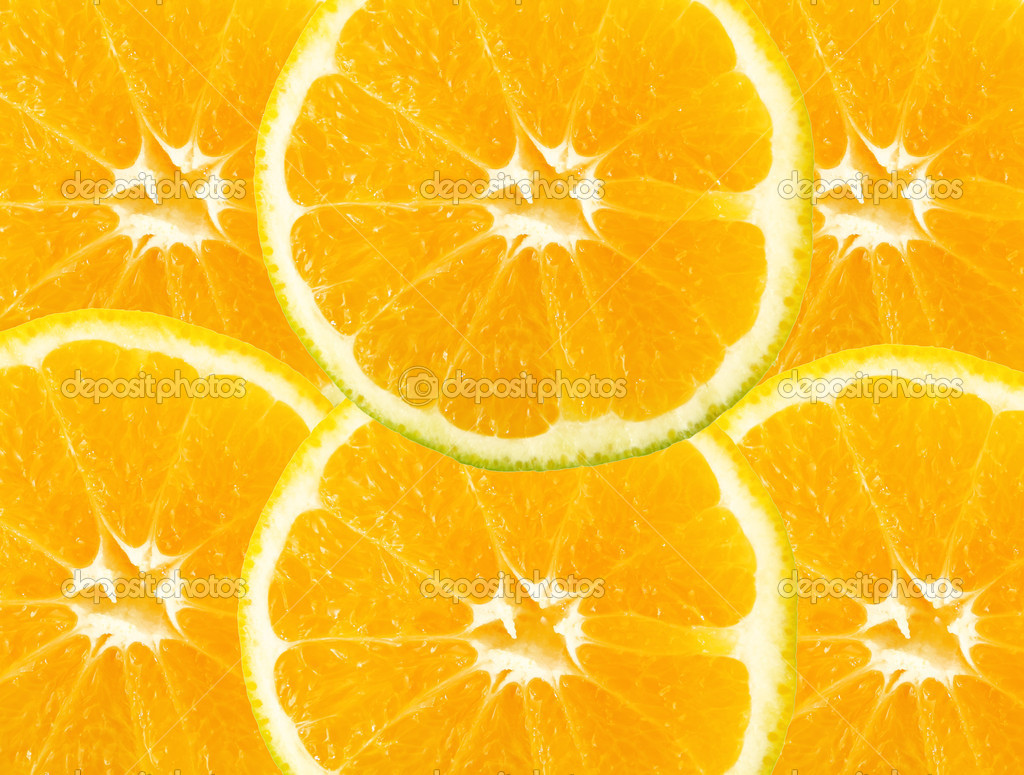 Orange slice background. yellow color. to insert text or design — Stock Photo #2543702