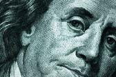 Face of One Hundred Dollar Bill — Stock Photo
