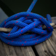 Blue Boat Rope on Dock — Stock Photo #2321805