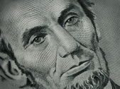 Close Up of Abe Lincoln on Money — Stock Photo