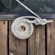 Boat Rope on Dock — Stock Photo