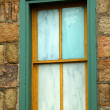 Stock Photo: Old painted window
