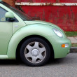 Green Beetle Car — Stock Photo