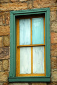 Old painted window — Stock Photo