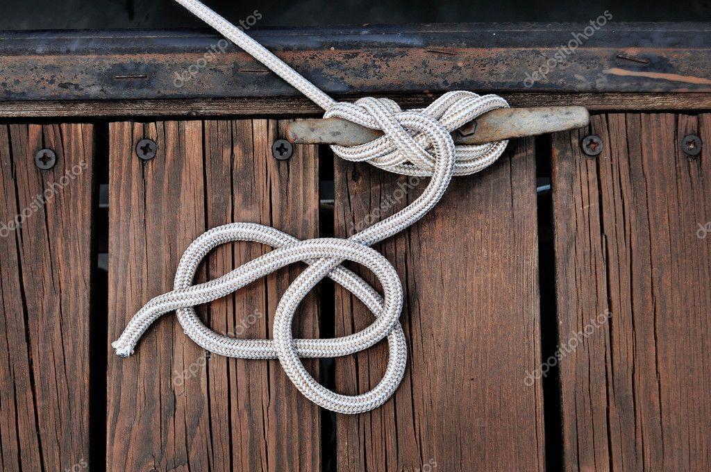 Boat Rope on Dock — Stock Photo © kiyyah #2344112