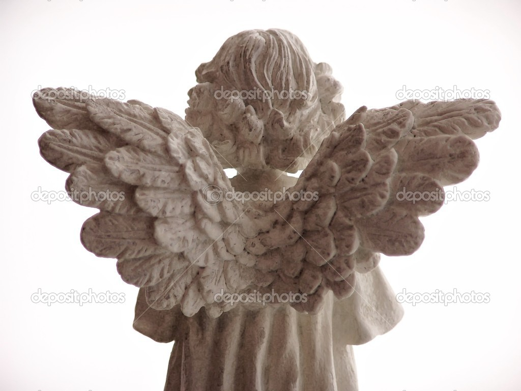 Angels wings from behind — Stock Photo #2368586