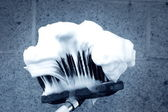 Car Wash Brush and Suds — Stock Photo