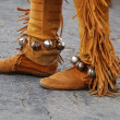 Native American sued footwear — Stock Photo