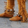 Stock Photo: Native Americsued footwear