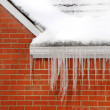 Icicles on House — Stock Photo #2450684
