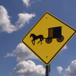 Amish Crossing — Stock Photo
