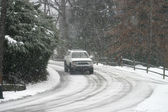 Driving in Snow — Stock fotografie