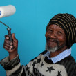 Sad Elderly African Man — Stock Photo
