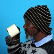 Stock Photo: African Man Drinking