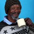 African Man Drinking — Stock Photo