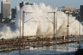 Coastal Storm Waves — Stock Photo