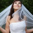 Gorgeous Smiling Bride - Stock Photo