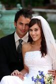 Beautiful Wedding Couple — Stok fotoğraf