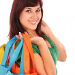 Beautiful Shopping Girl — Stock Photo