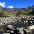 Stock Photo: Mountains and Stream