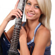 Royalty-Free Stock Photo: Pretty Blonde Guitarist