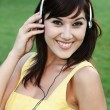 Gorgeous Music Listener — Stock Photo
