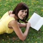 Happy Girl Reading — Stock Photo #2415269