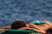 Girl Sunbathing — Stock Photo