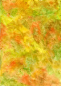 Handmade watercolor yellowish texture — Stock Photo