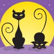 Royalty-Free Stock Imagen vectorial: Black cats