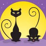gatos pretos — Vetorial Stock