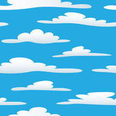 Seamless cloudy sky — Vector de stock