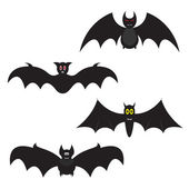 Set of Halloween bats — ストックベクタ