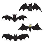 Set of Halloween bats — Vector de stock