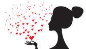 Woman in love — Stock Vector