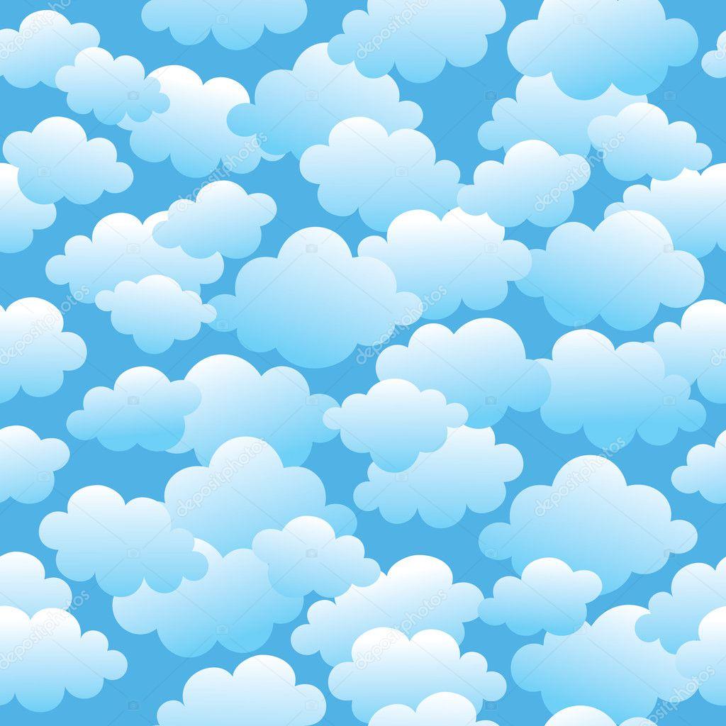 多云无缝模式 — 图库矢量图像08