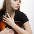 Beautiful guitarist — Stock Photo