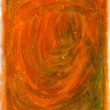 Orange gouache canvas texture - Stock Photo