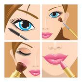 Make-up set — Stock Vector