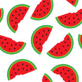Seamless pattern with watermelon — Stock Vector